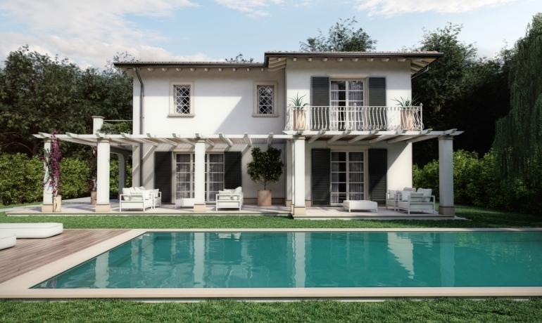 Pietrasanta villa singola con giardino e piscina